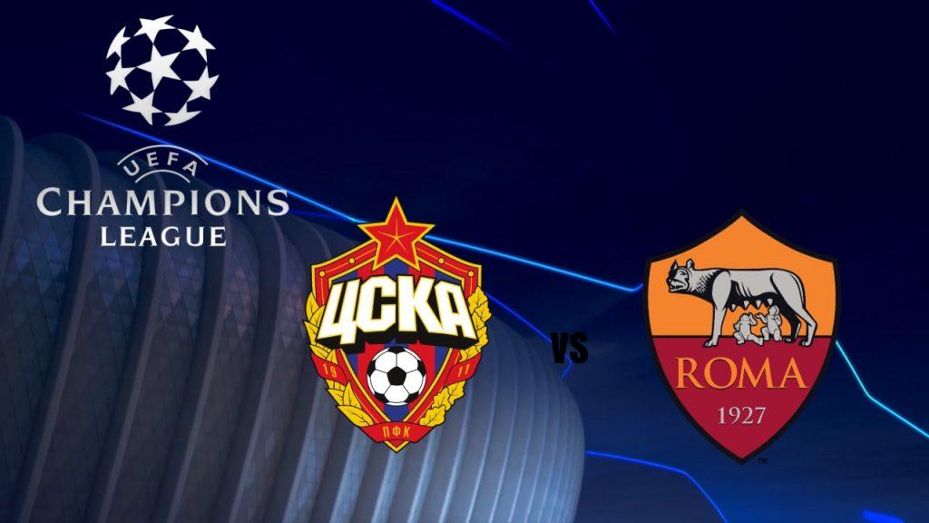 Cska Moscow vs Roma Champions League